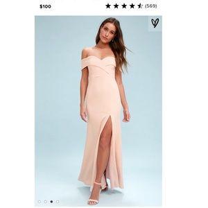 Lulus Off the shoulder full length dress